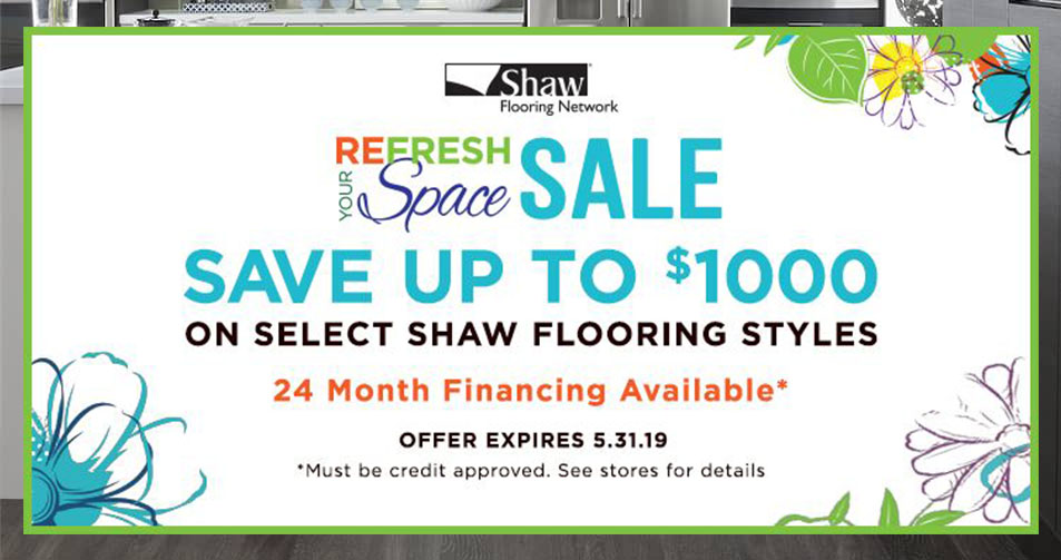 Shaw Refresh Your Space sale